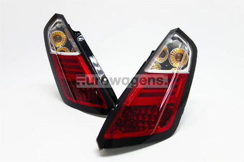 Rear lights set clear red LED Fiat Grande Punto 05-10