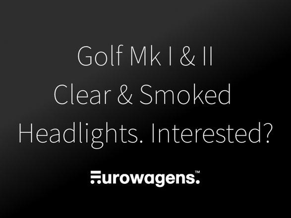 Design Ideas: New Headlights for Golf MK1 and MK2