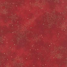 Snowflake Metallic - 33004 - Crimson 1/2 Metre Length