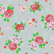 Strawberry Biscuit - Main Grey 1/2 Metre Length