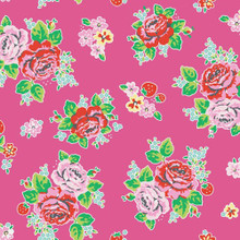 Strawberry Biscuit - Main Hot Pink 1/2 Metre Length