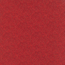 Holly Night Metallic - Icy Swirls Crimson 1/2 Metre Length