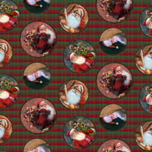 A Day in the Life of Santa - Retro Holiday Motifs 1/2 Metre Length