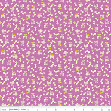 TOY FLORAL PURPLE 1/2 Metre Length