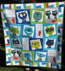"CatFace Quilt Kit 52""x58"""