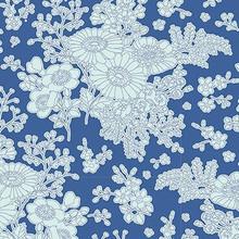Tilda Sunkiss Imogen Blue - per half metre length