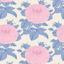 Tilda Sunkiss - Grandmas Rose Blue - per half metre length