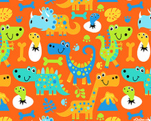Dino Pals Orange 1/2 Metre Length