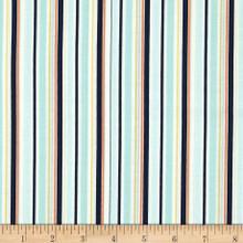 Riley Blake Stripes Blue 1/2 Metre Length