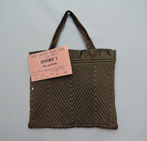 Hand Made Purse for 1938 New Jersey State Fair Competition