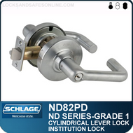Schlage ND82PD - Heavy Duty Institution Lever Lock, Double Cylinder