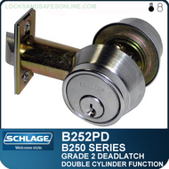 Schlage B252PD Deadlatch - Double Cylinder