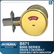 Schlage B571 Deadbolt - Occupancy indicator x thumbturn