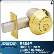 Schlage B664P - Grade 1 Deadbolt - Cylinder x no trim