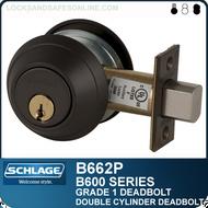 Schlage B662P - Grade 1 Deadbolt - Double Cylinder