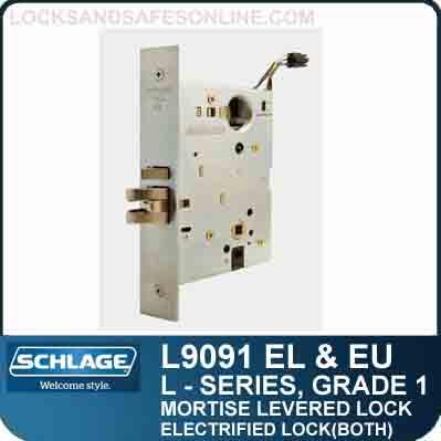Electrified Lock Both Side Schlage L9091 El Amp Eu D