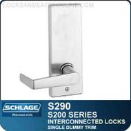 Schlage S290 - Interconnected Lock - Single Dummy Trim