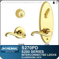 Schlage S270PD - Interconnected Lock - Double Cylinder - Classroom Lock