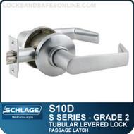 Schlage S10D - Grade 2 Tubular Levered Locks - Passage Latch