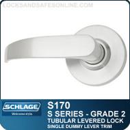 Schlage S170 - Grade 2 Tubular Levered Locks - Single Dummy Lever