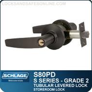 Schlage S80PD - Grade 2 Tubular Levered Locks - Storeroom Lock