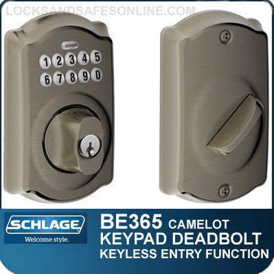 Schlage Be365 Cam Camelot Design Electronic Keypad