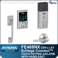 Schlage FE469NX-CEN-LAT - Century Style Schlage Connect™ and Handleset with Latitude Lever and Built-in Alarm