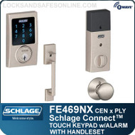 Schlage FE469NX-CEN-PLY - Century Style Schlage Connect™ and Handleset with Plymouth Knob and Built-in Alarm