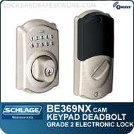 Schlage BE369NX-CAM - Camelot Style Keypad Electronic Deadbolt with Z-Wave Technology