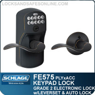 Schlage FE575-PLY-ACC - Plymouth Style Keypad Accent Lever with Auto Lock