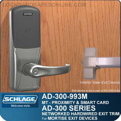 schlage ad 300 993m proximity exit trims rh locksandsafesonline com Speaker Wiring Parallel vs Series Detroit Series 60 Wiring-Diagram