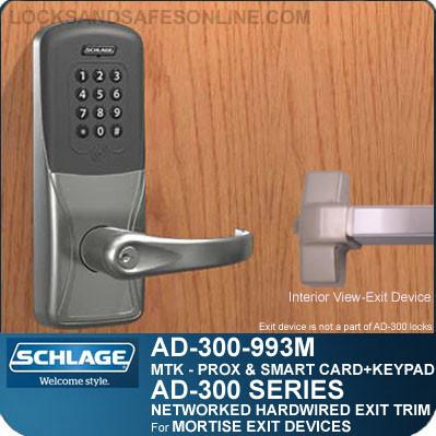 schlage ad-300-993m - networked hardwired exit trims schlage series 300 wiring diagram #11