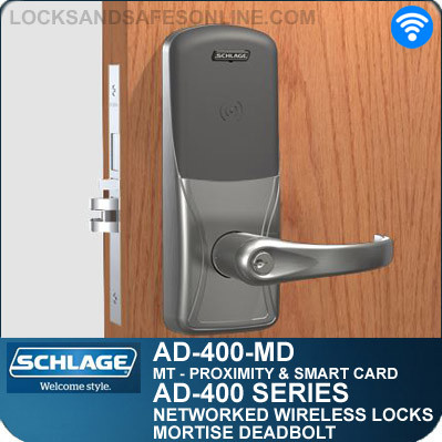 Proximity Wireless Mortise Deadbolt Schlage Ad 400 Md Mt