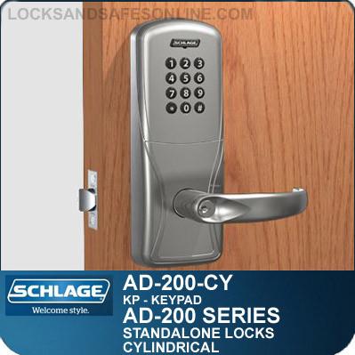 Standalone Keypad Cylindrical Locks Schlage Ad 200 Cy