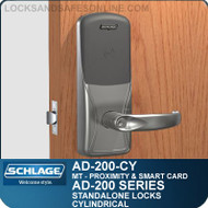 Schlage AD-200-CY - Standalone Cylindrical Locks - Multi-Technology | Proximity and Smart Card