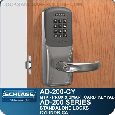 Standalone Prox Keypad Cylindrical Locks Schlage Ad 200