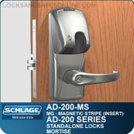 Schlage AD-200-MS - Standalone Mortise Locks - Magnetic Stripe (Insert)