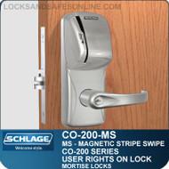 Standalone Magnetic Stripe Swipe Locks   Schlage CO-200-Mortise