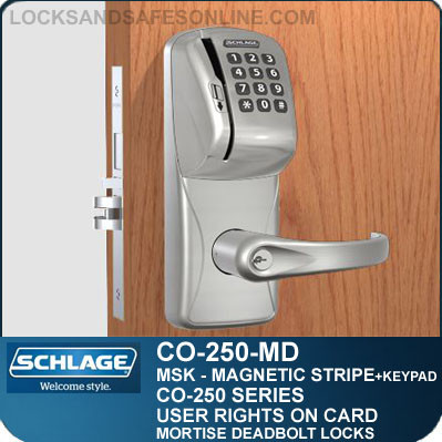 Magnetic Stripe Swipe Keypad Locks Schlage Co 250 Md Msk