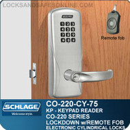 Cylindrical Electronic Keypad Locks | Schlage CO-220-CY-75-KP | Classroom Lockdown Solution