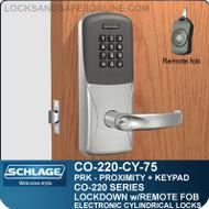 Cylindrical Proximity & Keypad Locks | Schlage CO-220-CY-75-PRK | Classroom Lockdown Solution
