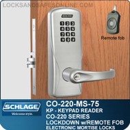 Mortise Electronic Keypad Locks | Schlage CO-220-MS-75-KP | Classroom Lockdown Solution