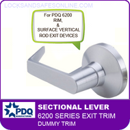 PDQ 6200 Sectional Trim Dummy - For Rim and Surface Vertical Rod Exit Devices