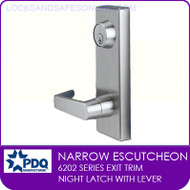 PDQ 6202 Escutcheon Trim | Night Latch with Lever | For PDQ 6202 Series Exit Devices