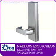 PDQ 6202 Escutcheon Trim | Passage With Lever | For PDQ 6202 Exit Devices