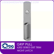 PDQ 6202 Grip Pull Trim | Night Latch | For PDQ 6202 Exit Devices