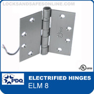 Electrified  PDQ Hinges | ELM 8 – Concealed electric through-wire and monitor