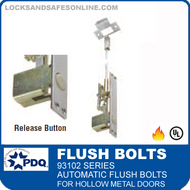 93102 Series Self-latching Automatic Flush Bolts For Hollow Metal Doors