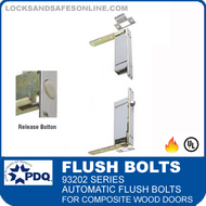 93202 Series Self-latching Automatic Flush Bolts For Composite Wood Doors