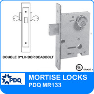 PDQ MR133 Double Cylinder Deadbolt Mortise Locks